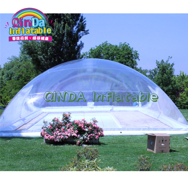 Giant Inflatable Swimming Pool Cover Tent,transparent Inflatable Bubble Dome Tent For Pools