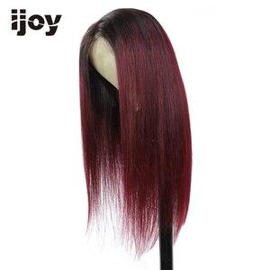 Image 4 - 4x13 frente do laço perucas de cabelo humano ombre peruca de renda reta mel loira peruca de cabelo brasileiro para as mulheres pré arrancadas peruca não remy ijoy