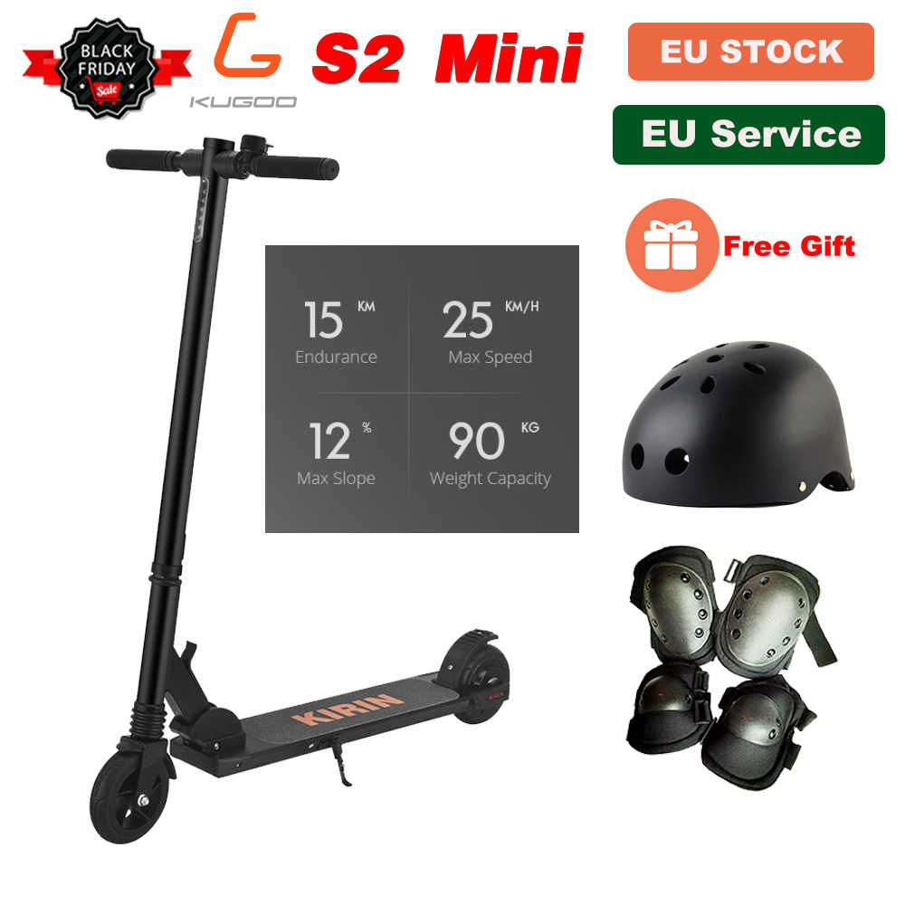 [Official Store] 8.78KG KUGOO KIRIN S2 Mini Folding Kick Electric Scooter LCD Display 25KM/H e Scooter for kids PK Megawheels