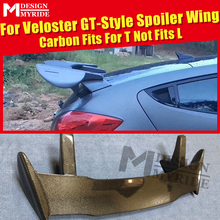 For HyundaI Veloster Ver2 Turbo GT-style Spoiler Gt-Wing Trunk Roof Carbon Fiber Gloss Black Tail Wings Fits T Not L