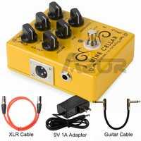 Caline CP-60 Driver + di per Bass Chitarra Effetto Del Pedale con 9V 1A Adattatore Accessori per Chitarra Mini Chitarra a Pedale parti di Utilizzare per Chitarra