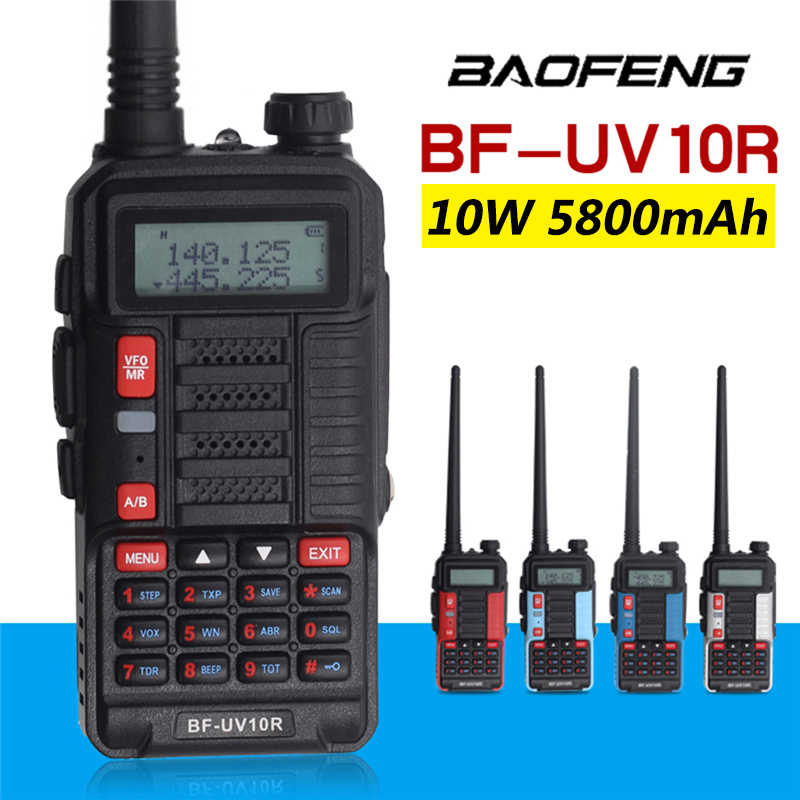 2020 Professionele Walkie Talkie Baofeng UV-10R High Power 10W 5800Mah Dual Band Twee Manier Cb Ham Radio Usb opladen Bf UV-10R Nieuwe