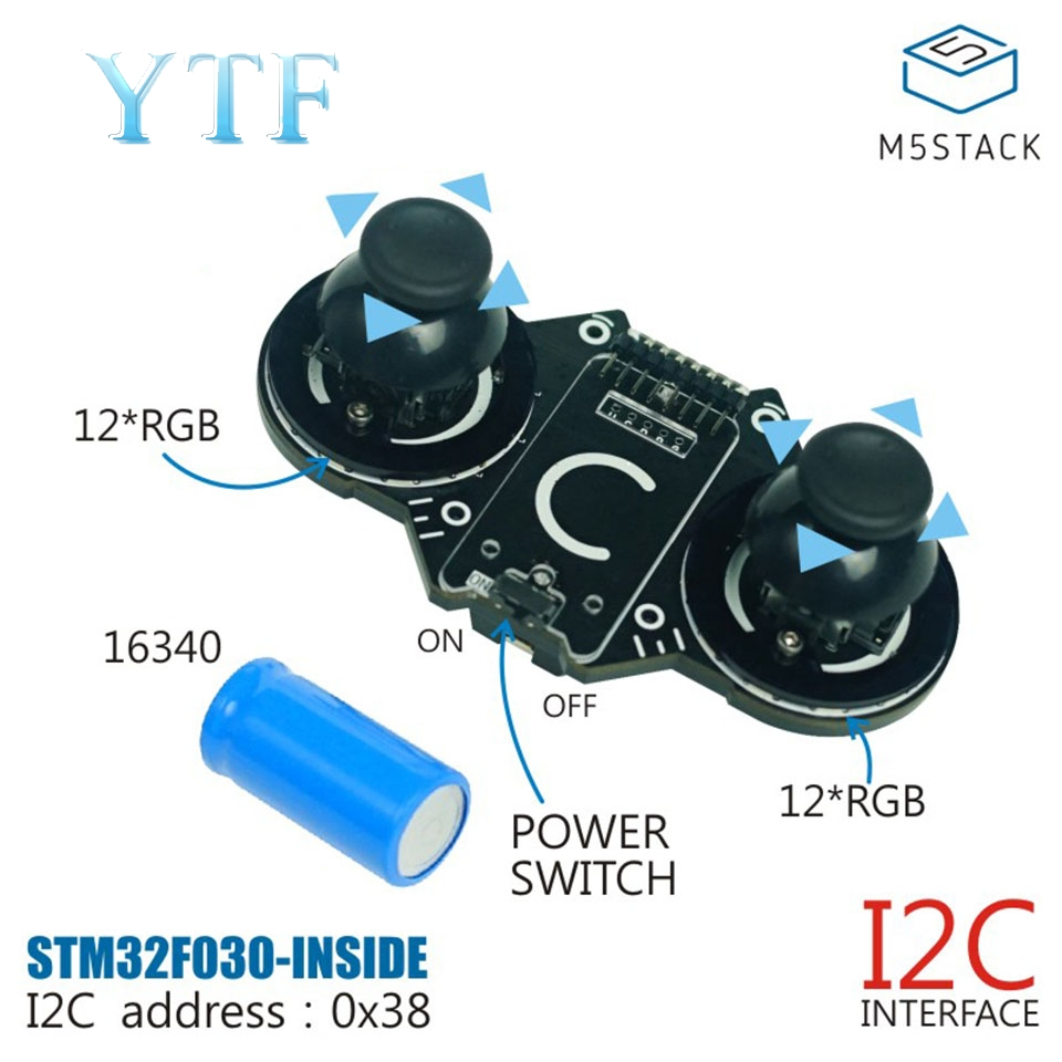 M5Stack JoyC Double Rocker I2C Modules May Be Offset Output Full Angular Offset Data