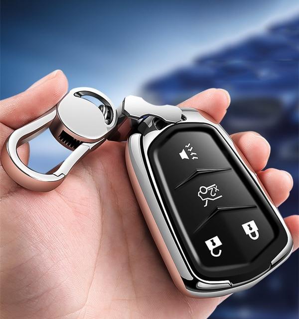 Hight Kwaliteit Pc + Tpu Key Case Cover Key Case Beschermende Shell Houder Voor Cadillac XT5/Atsl/Xts/XT4