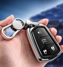 Yüksekliği kaliteli PC + TPU anahtar durumda katlanır anahtar kılıf koruyucu kabuk tutucu Cadillac XT5/ATSL/XTS/XT4