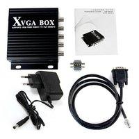 XVGA Box RGB RGBS RGBHV MDA CGA EGA to VGA Industrial Monitor Video Converter with EU Plug Power Adapter Black