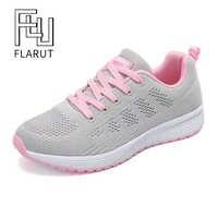 FLARUT zapatillas deportivas para Mujer zapatillas de tenis 2019 con cordones zapatillas planas de malla transpirable de MODA Calzado Deportivo Mujer