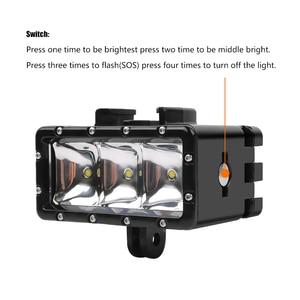 Image 3 - 2019 New for GoPro Diving flashLight lamp Waterproof LED Flash Video Light For GoPro Hero 9/8/7/6/5/4/3 SJCAM SJ4000/Xiaomi Yi