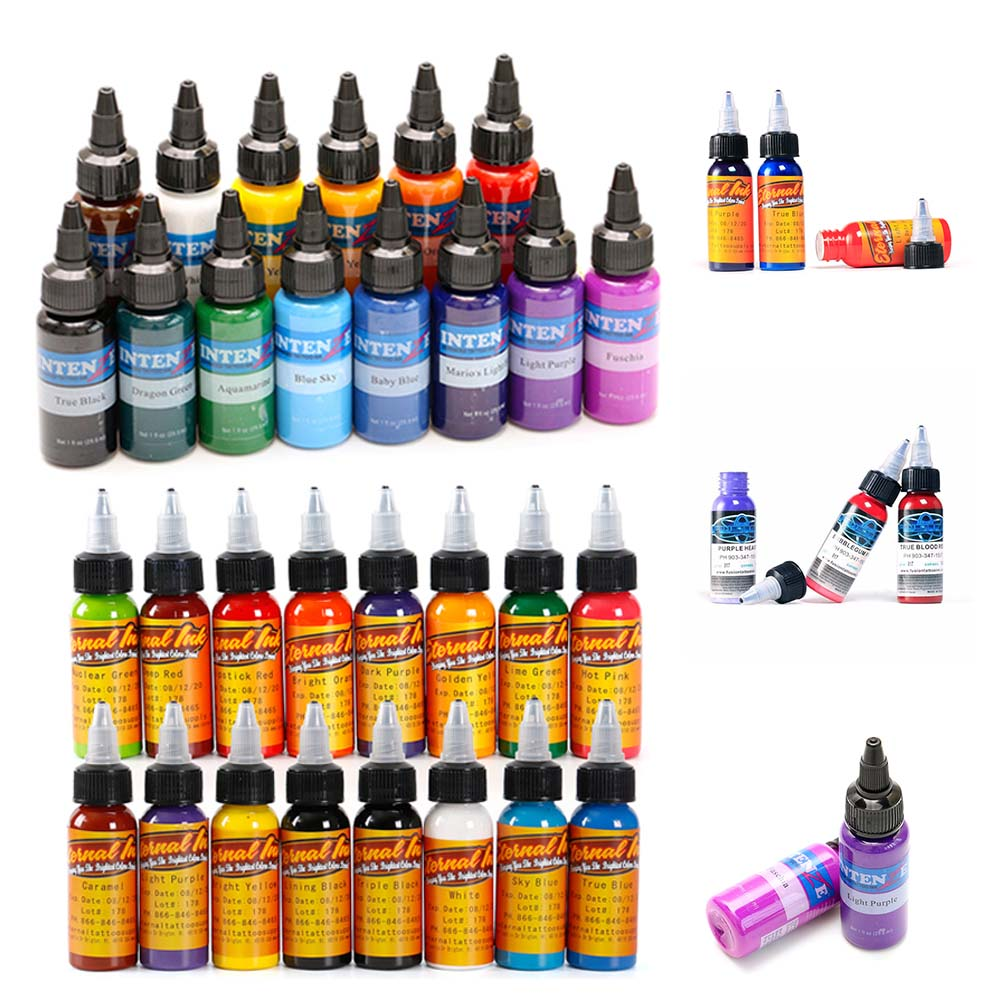 Hot Sale In Market Tattoo Ink Set Tattoo & Body Paint Permanent Eyebrow Body Arts Paint Makeup Cosmetic Color Tattoo Supplies