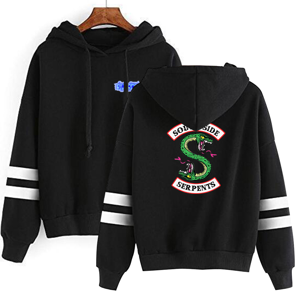 Riverdale South Side Snake Print Hot Sale Long Sleeve Hoodies Fashion Men's Women's Hooded Sweatshirt Trendy Streetwear Pullover