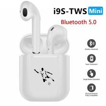 i9s Tws Bluetooth Earphones Wireless Earbuds Sport Handsfree Earphone Cordless Headset for xiaomi Phone Football Soccer Player(China)