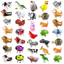 Cute Walking Animal Helium Balloons Cat Dog Dinosaur Air Ballons Birthday Party Decorations Kids Adult Event Party Decor Balloon цена и фото
