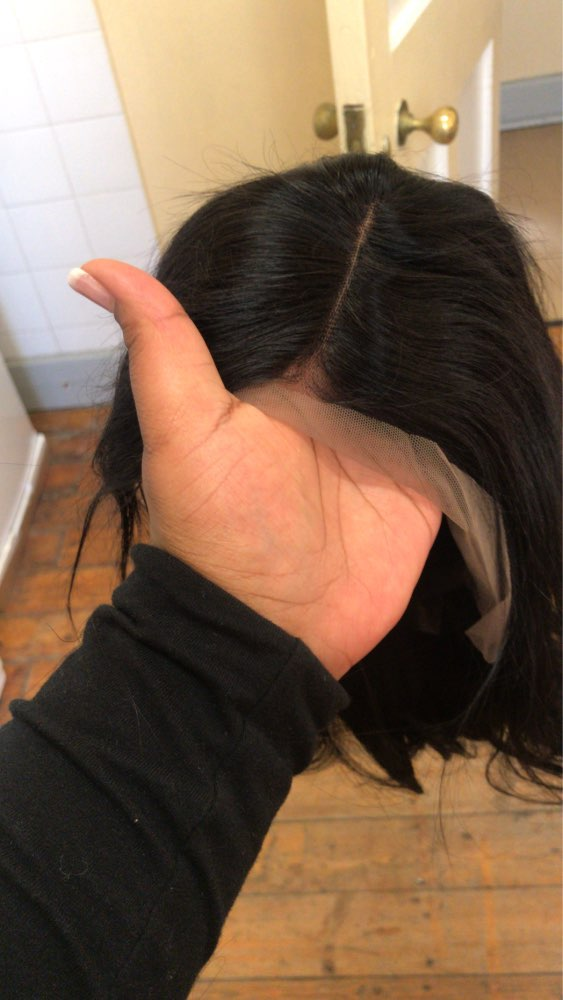 Apliques com cabelo humano Cabelo Dianteira Peruca