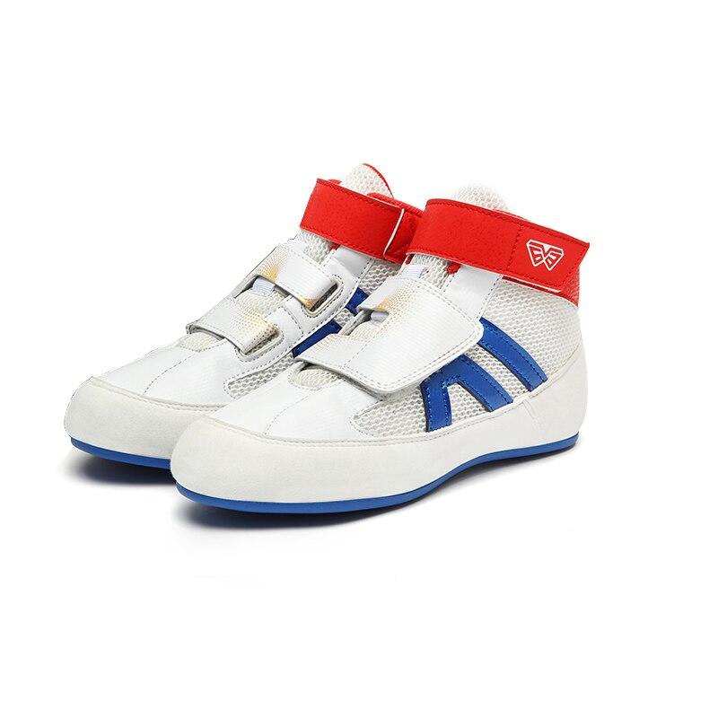 2021 New Kids Wrestling Shoes Outdoor Boys Girls Sporg Sneakers Black White Lightweight Children Boxing Sneakers Flighting