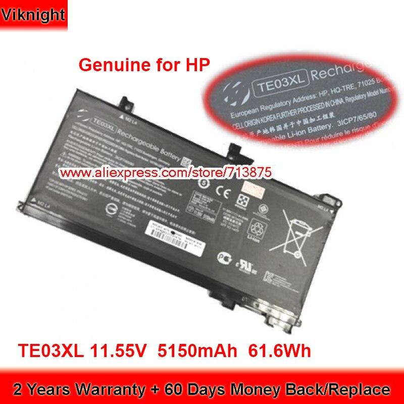 Genuine TE03XL Battery HSTNN-UB7A for Hp Omen 15-ax000 15-AX020TX WASD 15-AX015TX 15-AX020TX Laptop 11.55V 5150mAh