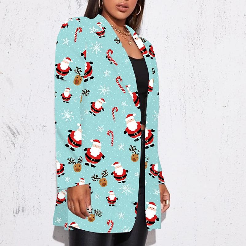 H66aeae6c544e42768c4e729db2d988e4o Fashion Trend Women Lapel Leopard Print Long Sleeves Suit Jacket Elegant Fall Winter Office Lady Cardigan Coat Casual Streetwear