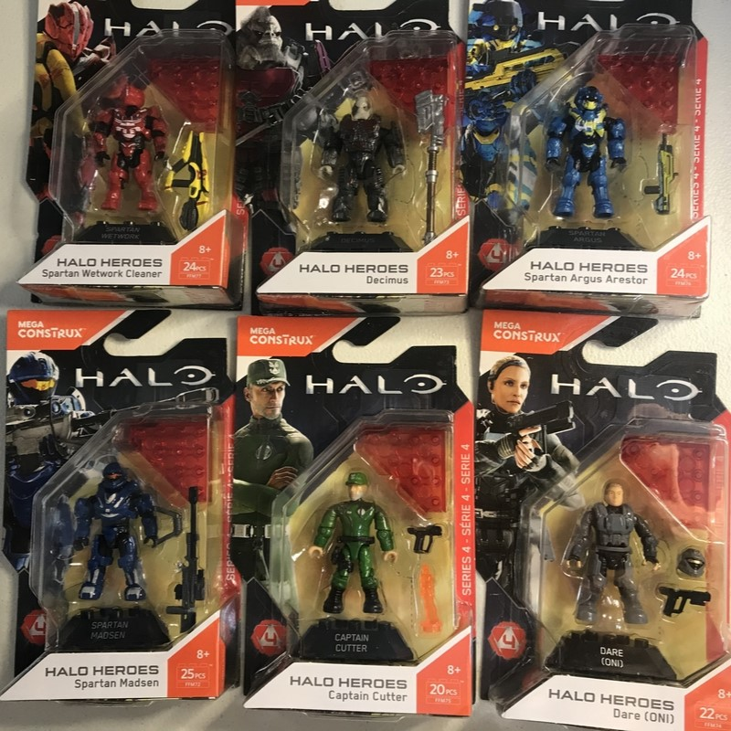 HALO Heroes Mega  Series 4 -DARE DECIMUS SPARTAN ARGUS ARESTOR MADSEN WETWORK CLEANER CAPTAIN CUTTER