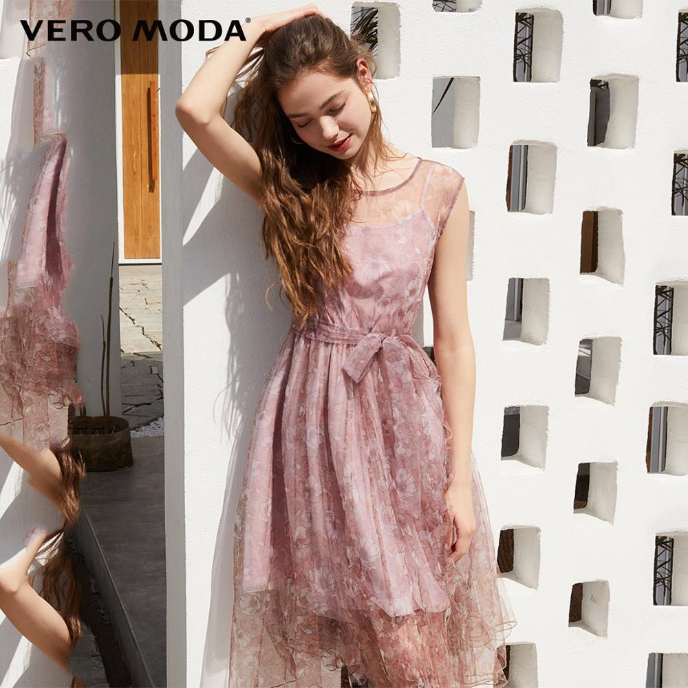 Vero Moda Women's Silky Lining Printed Gauzy Dress | 31927B544