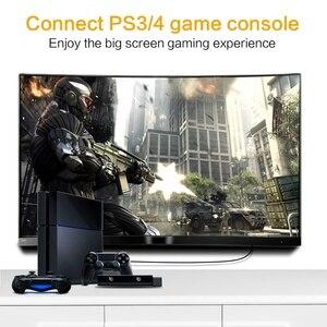 Image 2 - Vergulde Plug Dunne Hdmi Platte Kabel 1080 P 3D Man Man 0.3 M 0.5M 1M 1.5M Hoge Snelheid Resolutie Hdmi Kabel Voor Hdtv Pc Xbox Dvd