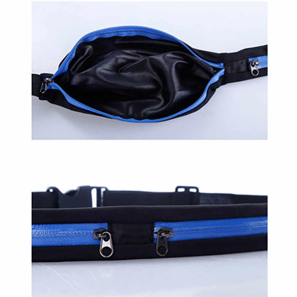 الرجال النساء غير مرئية الخصر حقيبة حزمة مراوح في الهواء الطلق تمتد مكافحة سرقة تشغيل جيوب الرياضية حقيبة بحزام جيب الهاتف محفظة تربط حول الخصر heuptas