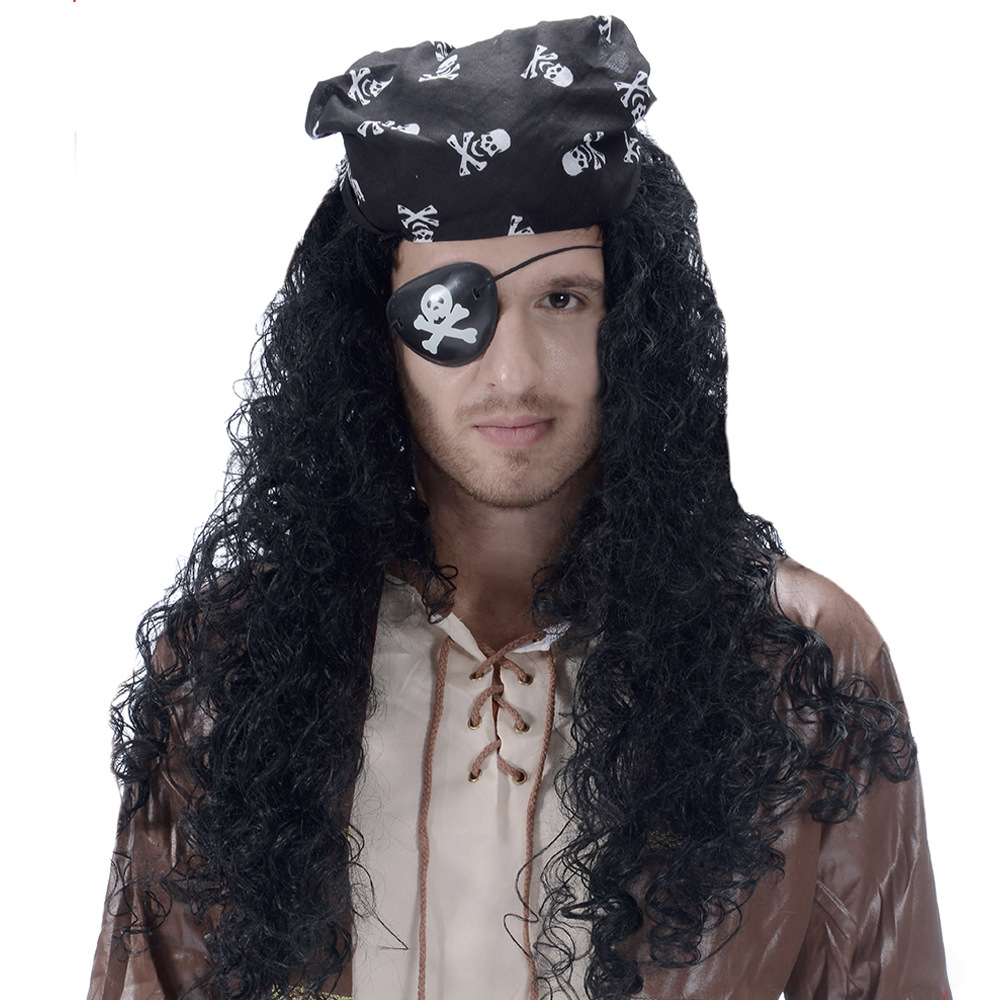 Pirate wig exotic wig savage Adult and kid wig masquerade stage performance props clothing with costume props