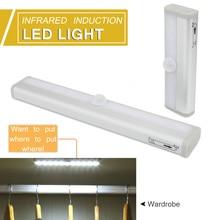 LED Under Cabinet Light Wireless PIR Motion Sensor Lamp 6/10