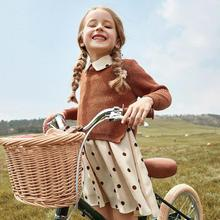 Conjunto de ropa de invierno para niña, jersey de manga larga + falda, 2 uds., traje de primavera, ropa para niña de 3 a 14 años, 2019