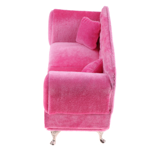 Image 5 - 1/6 Schaal Poppen Roze Dubbele Couch Lange Bank Model Action Figure Poppen Sofa Meubels Accessoires