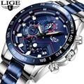 2019 LIGE мужские часы s мужские деловые аналоговые часы модные спортивные водонепроницаемые светящиеся часы из нержавеющей стали мужские часы
