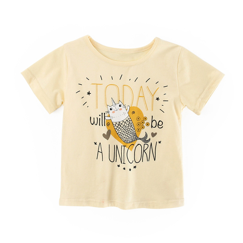 Kids Girl T Shirt Summer Baby Cotton Tops Toddler Tees Clothes Children Clothing Cartoon T-shirts Short Sleeve Casual Wear 3