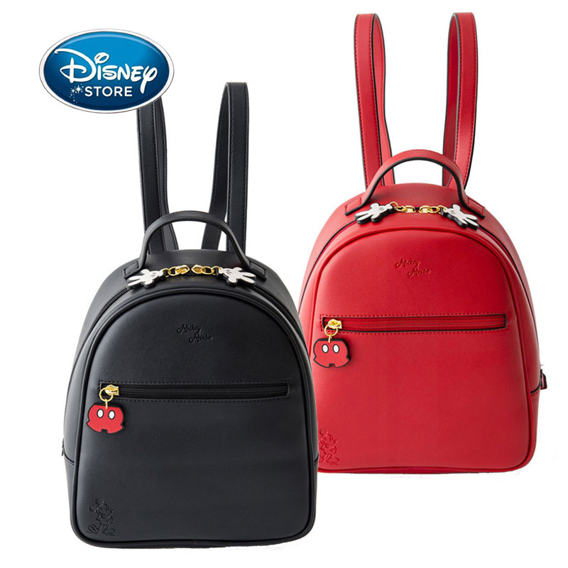 Disney Mickey Mouse Women PU Leather Backpack Children Backpack Cute Minnie Daisy Schoolbag Teenage Girl Knapsack For Travel
