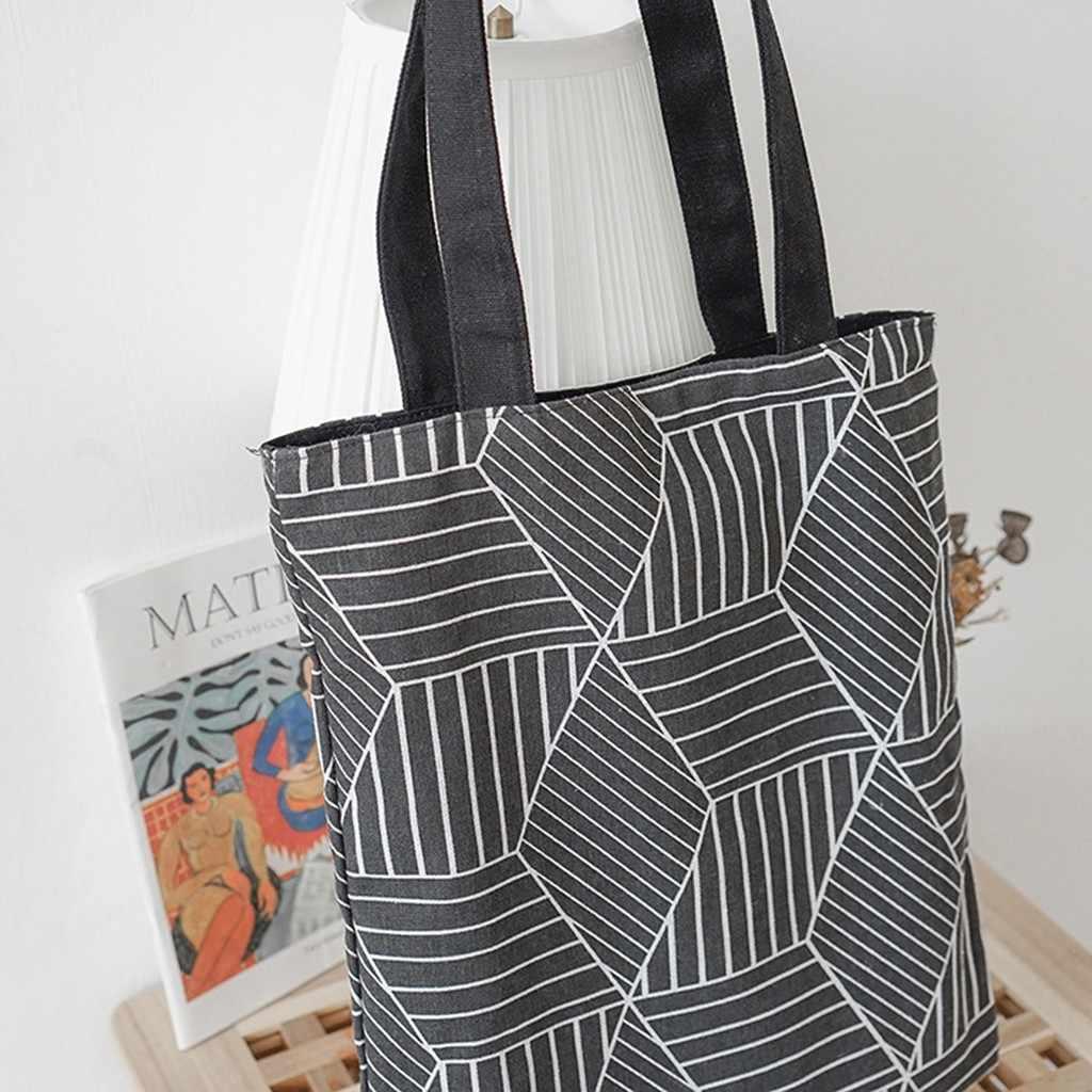 Корейские повседневные сумки, модные холщовые льняные женские сумки, летние простые женские сумки на плечо, Студенческая литературная Сумка-тоут, дамская сумочка
