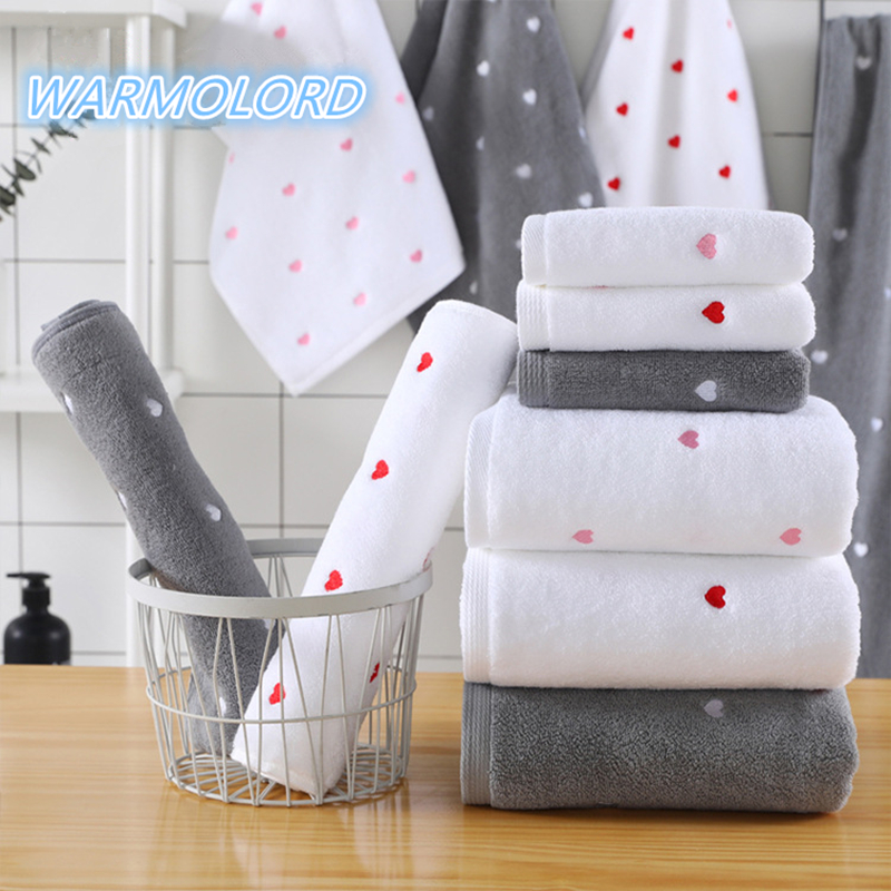 Cotton Knitted Stars Hearts Baby Bath Towel Absorbent  Kids Face Towel Child Bath Towel Breathable Kids Washcloth Beach Towel