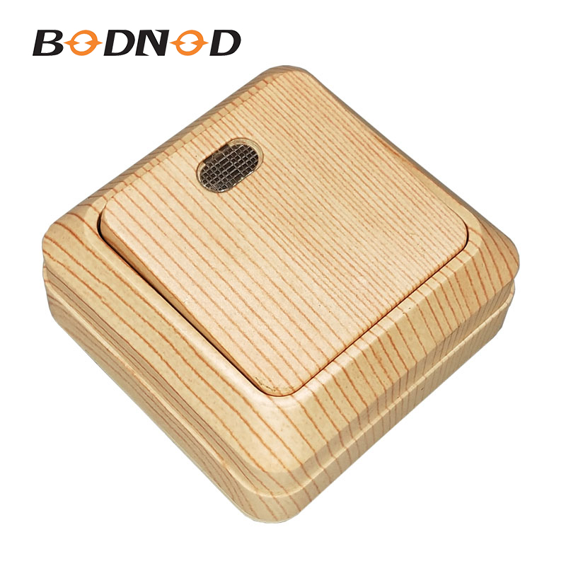 New Light Switch Wall Switch One Gang Switch One Way With Indicator Wood Grain Color 10A 250V Jung Legrand Schneider Livolo(China)