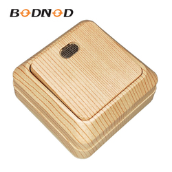 New Light Switch Wall Switch One Gang Switch One Way With Indicator Wood Grain Color 10A 250V Jung Legrand Schneider Livolo