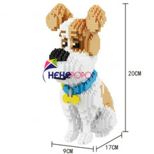 1350pcs 16064 Sit Mike Building Blocks Cute Pet Dog Model Mini Bricks Toy Educational Toy for Children Funny Girls Gifts Toys