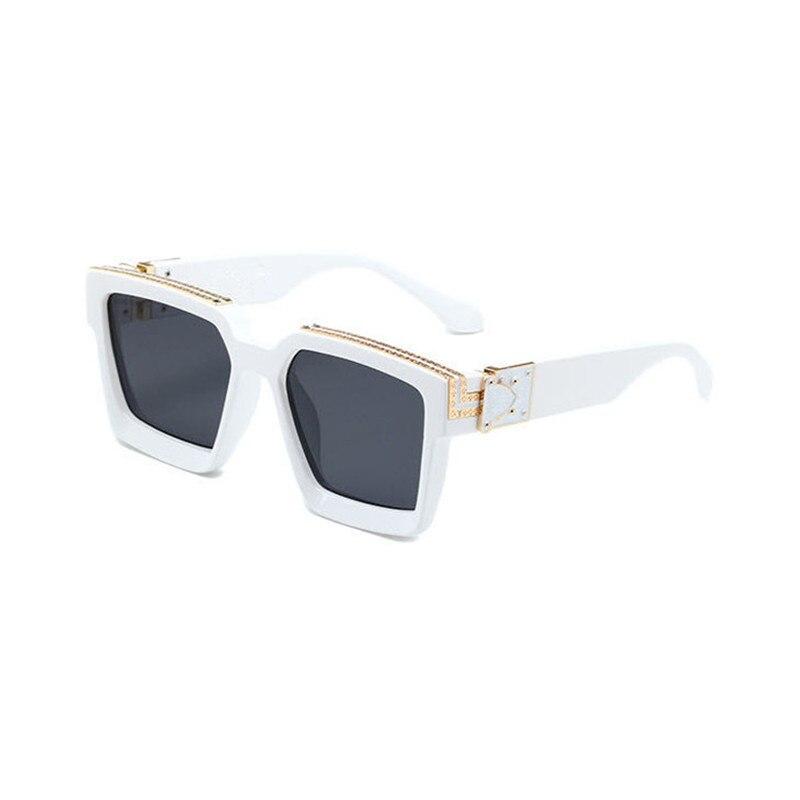 Популярные солнцезащитные очки, модные брендовые дизайнерские Квадратные Солнцезащитные очки унисекс, популярные солнцезащитные очки с б...