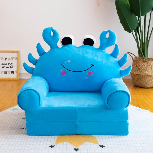 Baby Chair Toddler Nest Puff Seat Children Seat Sofa Washable Only Cover No Filling Kids Bean Bag Cartoon Bear Skin Upscale 4