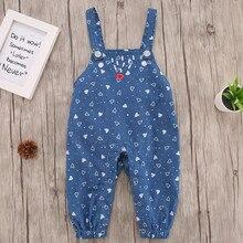 Комбинезон для малышей; штаны на лямках с сердечками для новорожденных девочек; Одежда для новорожденных; H1118