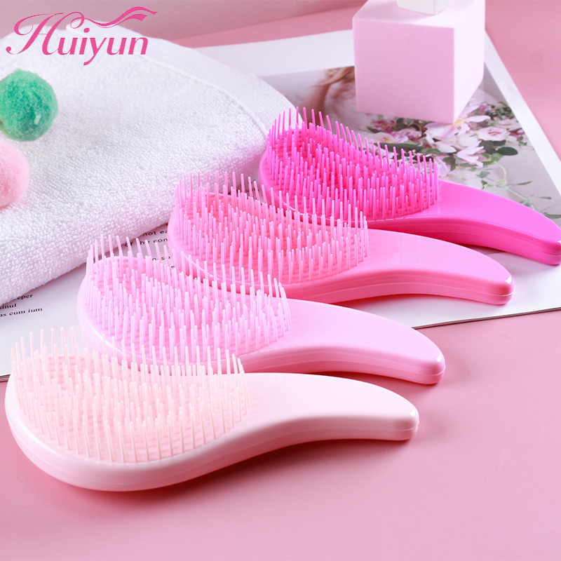 Huiyun Mini Comb Anti-static Massage Detangling Hair Brush Tangle Barber Shower Combs Salon Hair Styling Tools Girl Accessories