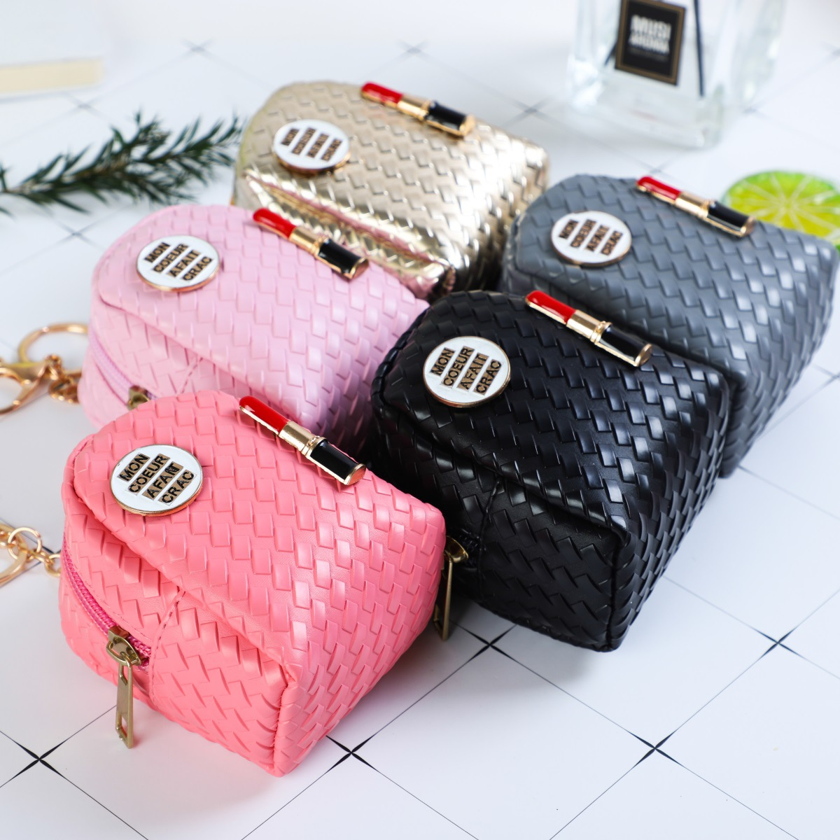 Korean-style Zipper Tassels Cute Backpack Modeling Wallet Hanging Buckle Mini Purse Lipstick Purse Key