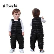 Adoveki/ зимний комбинезон для девочек и мальчиков, теплый хлопковый комбинезон, одежда для маленьких мальчиков, мягкое зимнее пальто для малышей 2-6 лет