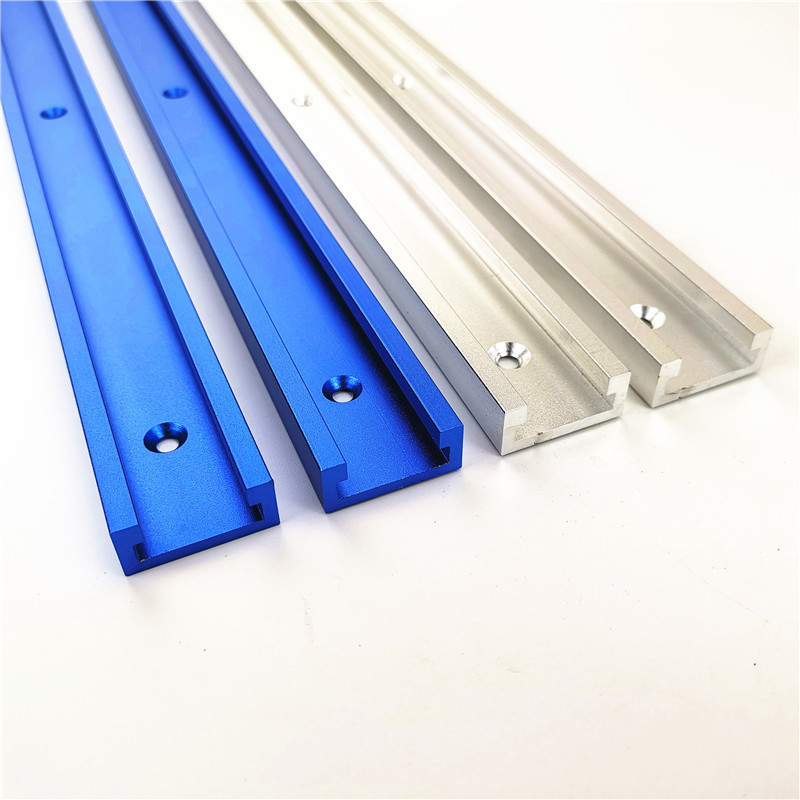Aluminium Alloy T-track Slot Miter Track Jig Fixture For Router Table Bandsaws Woodworking DIY Tool Length 300/400/500/600/800MM