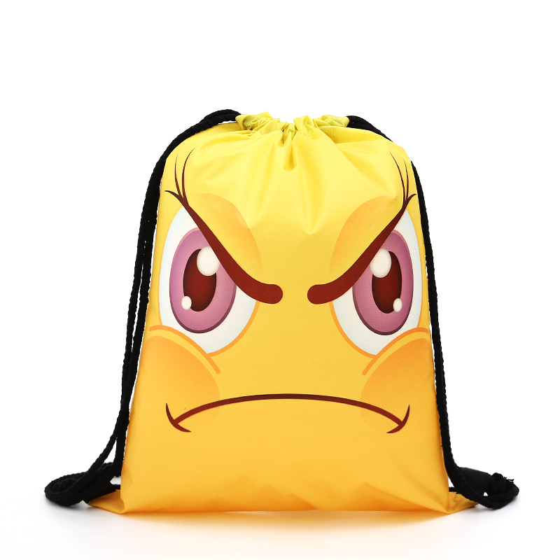 Drawstring Yellow Backpack Drawstring Bag Fashion Women Printing Travel Softback Men Casual Bags Women's Shoulder Funny Small