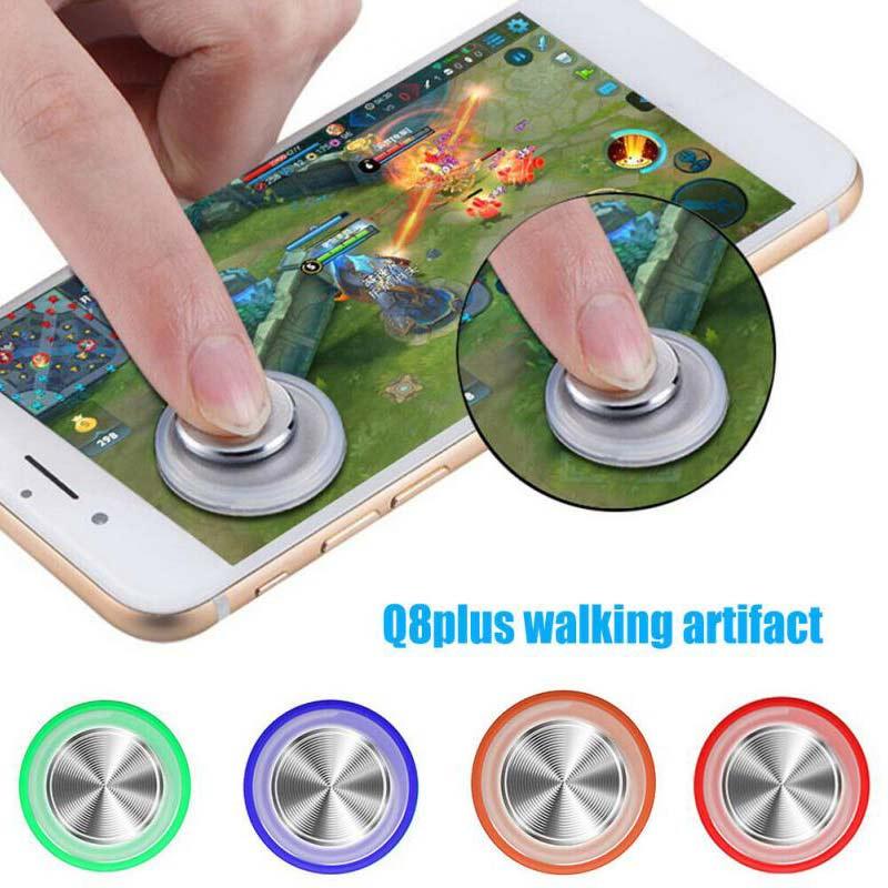 Круглый Видео игровой контроллер для Мобильный телефон Android Iphone планшет рокер металлическая кнопка игровой контроллер для PUBG с присоской