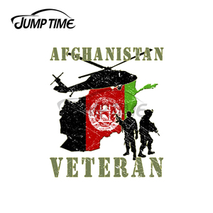 Image 1 - Jump Zeit 13x12cm Für Afghanistan Veteran Auto Assessoires Military Aufkleber Kratz Aufkleber Motorrad Vinyl Auto Wrap