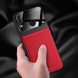Image 3 - Eu coque, capa, caso, para xiaomi redmi nota 7 pro note7 em couro espelho de vidro silicone à prova de choque telefone luxo macio bonito casos