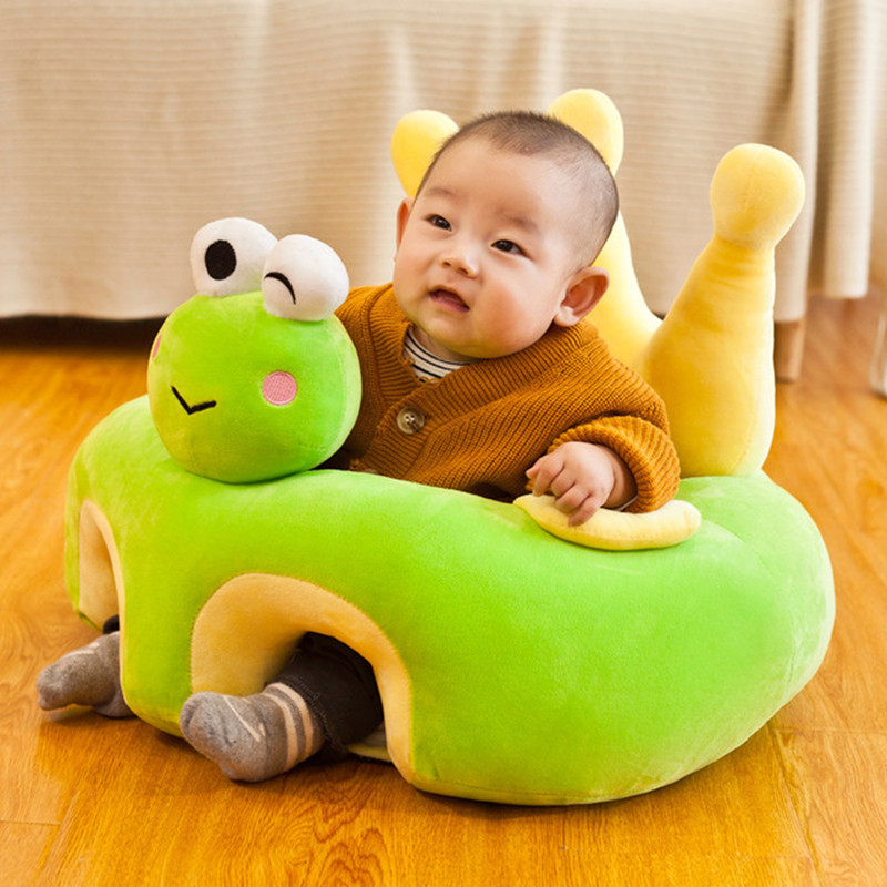 Cute Cartoon Baby Sofa For Infant Bebe Seat Sofa Sit Learning Chair Washable Cover With Zipper Or PP Cotton