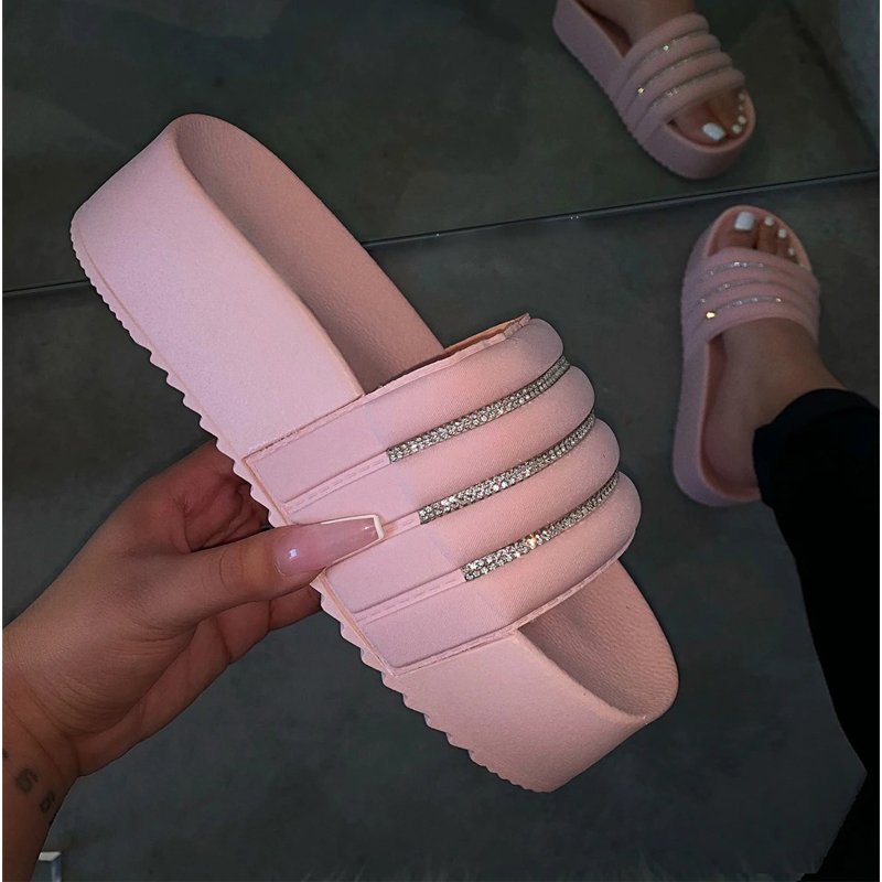 WENYUJH Women's Slippers Fashion Slippers Women Thick Platforms Shoes Slippers Flip Flops Ladies Slides Rome Beach Shoes