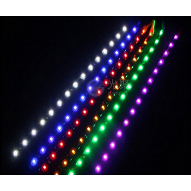2PC 15 LEDs 30cm NEW Interior Accessories Ornaments 1210 SMD LED Strip Light Flexible 12V Car Decor Waterproof